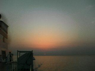 素晴らしい瀬戸内海の夕日